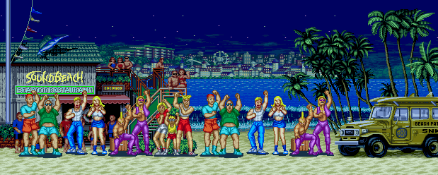 Fatal Fury: King of Fighters - Sound Beach, Night 0.1