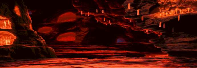 Street Fighter Alpha 3 - Oni Fang Cave, red 0.2