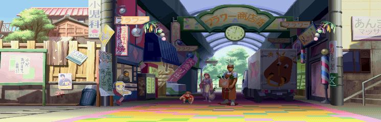 Street Fighter Alpha 3 - Flower Shopping Center 0.2