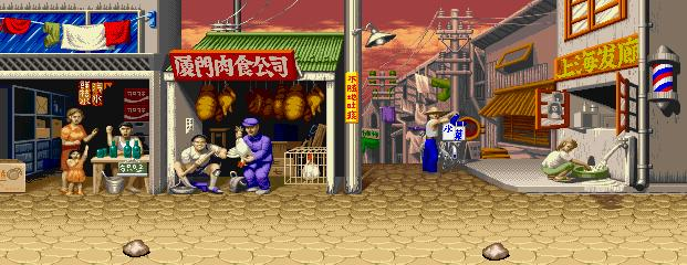 Super Street Fighter II Turbo - Shopping District, Peace Road 0.1